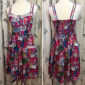 EUC Lindy Bop Dress Pink London Retro Pinup